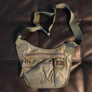 Alpha Industries olive green cross body bag NWOT
